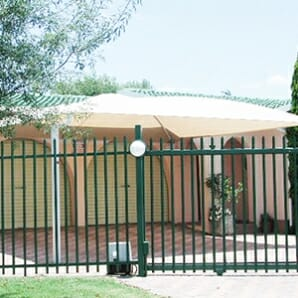 single shade net carport