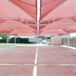 shade cloth carport superspan